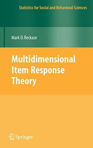 Multidimensional Item Response Theory (Statistics for...