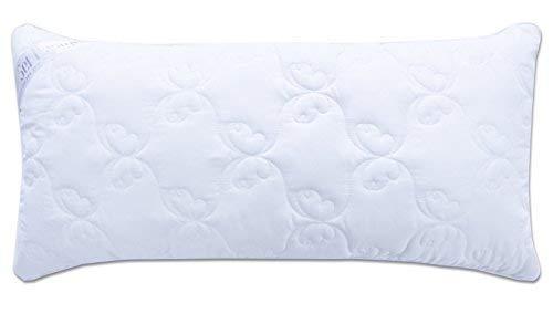 Oreiller matelassé de qualité premium en microfibre Design « Aphrodite », remplissage des billes de fibres 3-D - très doux et confortable - force de soutien réglable par fermeture-éclair. Un bord blanc perle incorporé donne à l'oreiller une élégance particulière (blanc perle, 40x80)