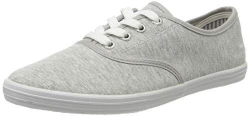 TOM TAILOR Damen 8092401 Sneaker, Grau (Jersey 02126), 38 EU
