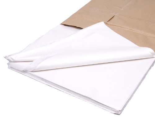 bag it Plastics White Tissue Paper 18' x 28' / 450mm x 700mm - Pack of 100