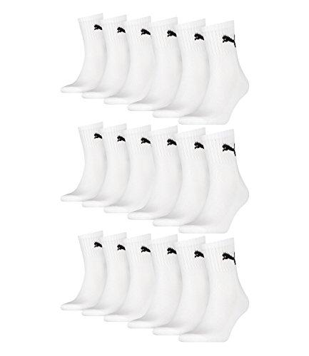 PUMA Unisex Short Crew Socks Socken Sportsocken MIT FROTTEESOHLE 12er Pack