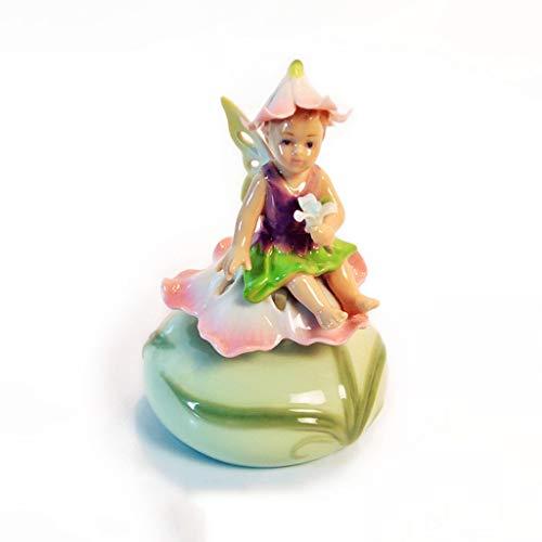 ZAZA Spieluhr Engel Spieluhr Keramik Spieluhr Tier Spieluhr Clown Spieluhr,Kinder Geburtstagsgeschenke Für Jungen Und Mädchen,Clown Puppe Premium Spieluhr (Color : Daffodil Fairy Music Box)