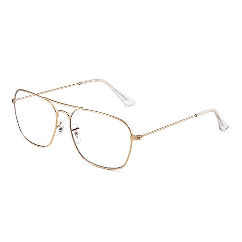 Blue Light Blocking Computer Glasses, Square Eye Protect Video Eyeglasses...