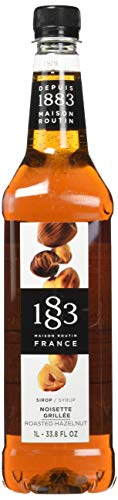 Maison Routin 1883 Premium Syrup Flavorings - Roasted Hazelnut - Purly Made in France - Pet Bottle - 1 Liter