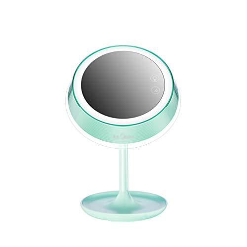 Led slimme kaptafel make-up spiegel met licht grote ronde net desktop spiegel