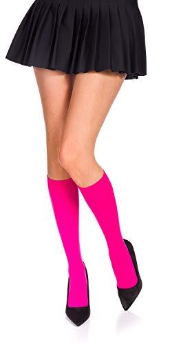 Romartex 60 DEN Mikrofaser Kniestrümpfe in 29 Trendy Farben, pink