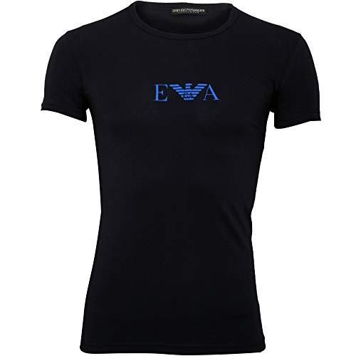 Emporio Armani Underwear Herren Multipack-Monogram T-Shirt, Blau (Marine 00135), XX-Large (Herstellergröße:XXL)