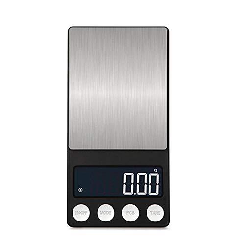 Smart Digital Báscula con 500g / 0,1g 200g / 0,01g balanza digital balanza balanza balanza de cocina electrónica con bandeja joyería de acero inoxidable -200g_0.01g