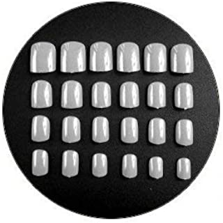 TBOP NAIL STICKERS easy quick nail art polish set of 24pcs Fake Nail Patch Square in Grey color