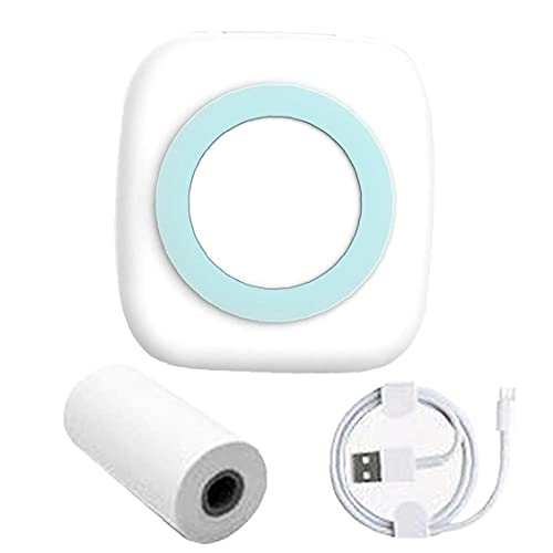 Imprimante thermique mini poche, imprimante photo portable sans fil Bluetooth, imprimante photo, mémo de récépissé,