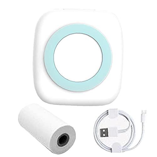 Mini impresora térmica de bolsillo, impresora de fotos portátiles Bluetooth inalámbrica, impresora de fotos, notas de recibos,