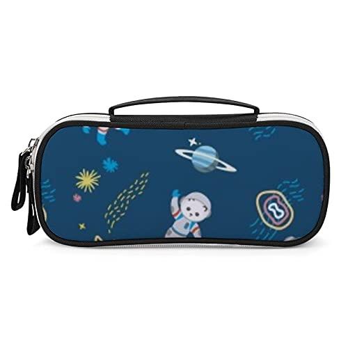 Star Astronaut - Estuche de gran capacidad para lápices, organizador de lápices, con cremallera duradera para suministros escolares y de oficina
