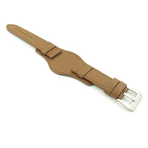 Póngase en contacto con el Imperio DASSARI Bund venda de reloj de cuero italiano de...