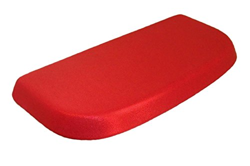 Special Shiny Edition of Fabric Cover for a lid Toilet Tank - Handmade in USA (Red Bright)