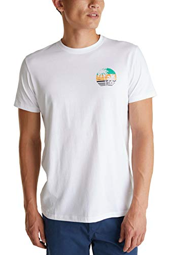 edc by ESPRIT Herren 050CC2K318 T-Shirt, 100/WHITE, XL