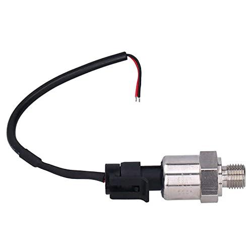 Pressure Sensor Transmitter Transducer Sender 1/4in Interface Water Air Oil Medium DC12-24V Water Pressure Sensor
