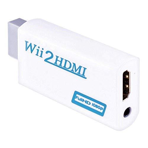 Mondpalast @ Wii a HDMI Convertitore Wii2HDMI Audio Video Adattatore Wii segnale a 720p e 1080p con Audio da Jack 3.5mm Per Nintendo Wii WII Videogiochi HD TV schermo proiettore