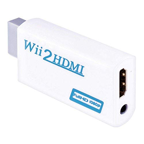 Mondpalast @ Convertidor Wii a HDMI Wii2HDMI Adaptador 1080P Full HD con Salida de Audio de 3,5 mm para Nintendo WII wii HDTV Proyector Beamer Monitor