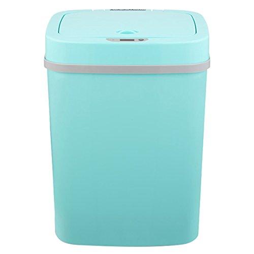 Tao Smart mülleimer induktion Haushalt 12L automatische Muschel Bunte Kunststoff Bad Wohnzimmer kreative lagerung Eimer (verpackung von 1) (Farbe : Blau)