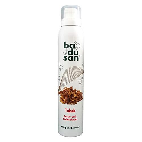 Badusan Duschschaum Tabak 200 ml, Badeschaum, Duschgel, Duschbad, pH-hautneutral