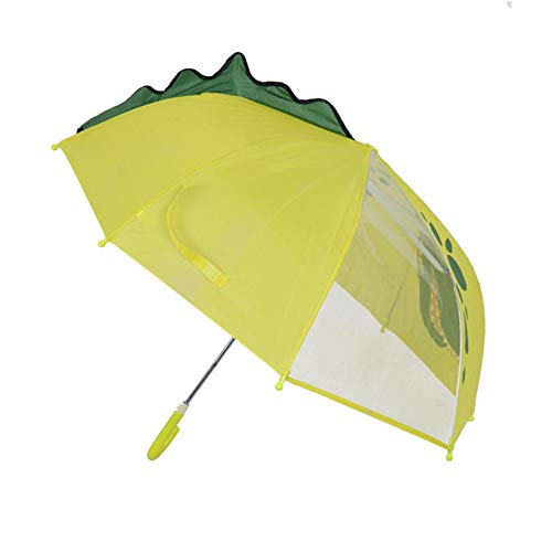 Regenschirm für Kinder Kinderregenschirm 3D Comic Muster Mit Ohren Duale Verwendung Sonniger Regenschirm Langer Griff Regenschirm für Mädchen und Jungen Bunt
