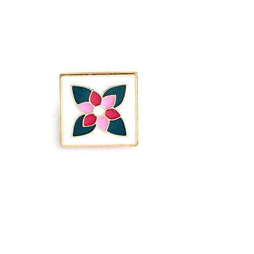 COLORFULTEA Maravilloso Fabuloso Patrón De Arte Popular Polaco Esmalte Pin Camisa Vaquera Pin De Solapa Iconos Insignias Broches para Mujeres Joyería De La Literatura