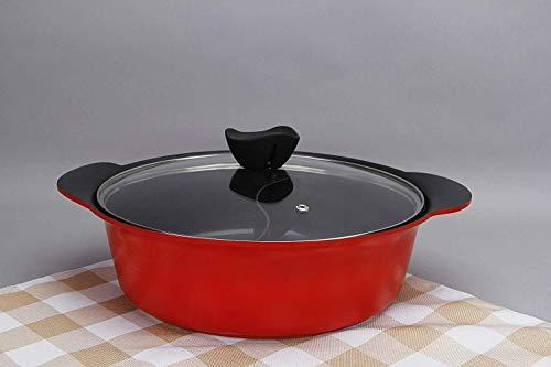 TLMYDD Yin And Yang Hot Pot, natuurlijke antiaanbaklaag Huishoudelijke Professionele keukengerei, Geschikt voor alle grote kookplaten Elektrische barbecue