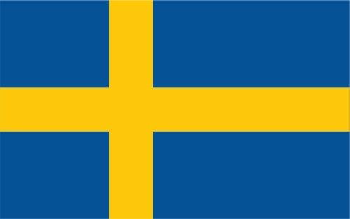 Autosticker, stickervaantje, vlaggetje, 10 cm, Zweden gelamineerd, zeer lang houdbaar