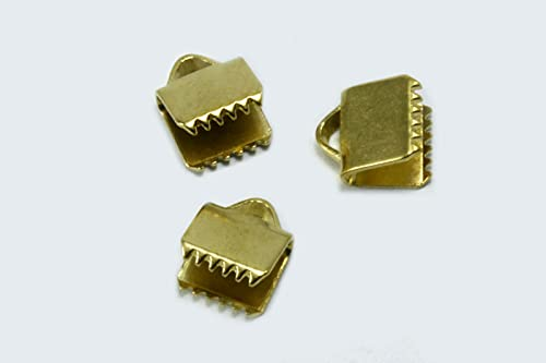 INWARIA M-103/6 - Tapas de terminales planas, 6 mm, latón Raw Brass en bruto, 50 unidades