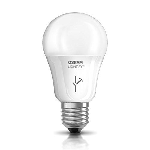 Osram Lightify Classic A LED Glühlampe, 10 Watt, E27, matt, Dimmbar, RGBW, Kompatibel mit Alexa