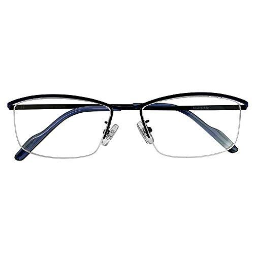 SHOWA 遠近両用メガネ ライトフィットナイロール (ネイビー col-04) (メンズセット) 全額返金保証 境目のない 遠近両用 眼鏡 老眼鏡 おしゃれ メンズ 男性 リーディンググラス (瞳孔間距離:57mm〜59mm, 近くを見る度数:+3.0)