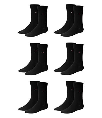 Tommy Hilfiger Herren Socken, 6er Pack (43/46, schwarz (black))