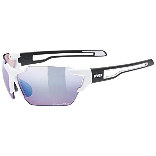 uvex Sportstyle 803 CV Gafas de Deporte, Adultos Unisex, White Black Mat/Amber, One Size