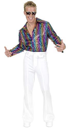 Charades Men's Disco Pant, White, 32