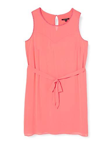 comma Damen 81.004.82.5452 Kleid für besondere Anlässe, Orange (2045 Coral), 46