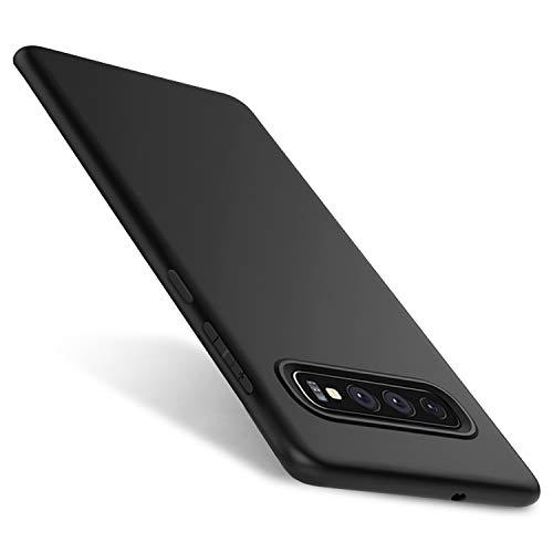 Whew Matt Schwarz Kompatibel mit Samsung Galaxy S10 Hülle, Ultra Dünn S10 Handyhülle, Anti-Fingerabdruck, Hohe Zähigkeit Kratzfest Weich Silikon Schutzhülle,Soft TPU Samsung Galaxy S10 Hülle
