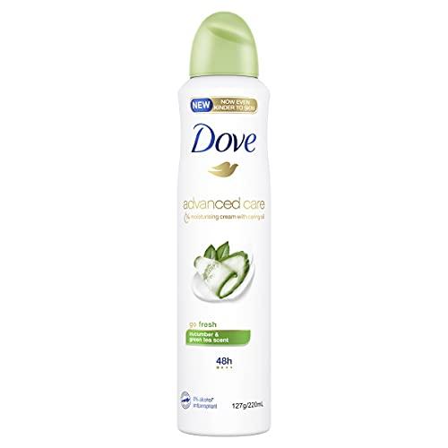 Dove Advanced Care Antiperspirant Aerosol Deodorant Go Fresh Cucumber & Green Tea 220 ml (Pack of 1)