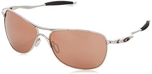 Oakley Men's OO4060 Crosshair Aviator Metal Sunglasses, Matte Black/Black Iridium, 61 mm