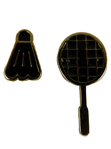 Ohrringe Ohrstecker Stecker goldfarben Sport Tischtennis Federball Tennis Schläger 12.516