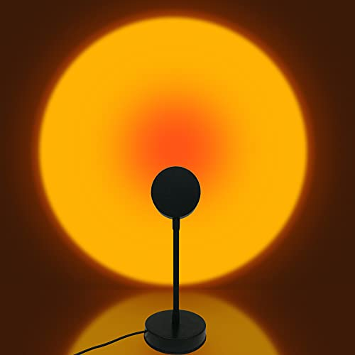 Sunset Projection Lamp, 180 Degree Rotation Sunset Projector Modern Floor Lamp for Home Bedroom...