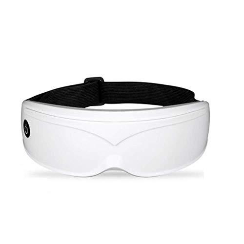 Masque pour les yeux de sommeil portatif avec système de massage des yeux sans fil ? Ombrage du chauffage électrique pour un sommeil réparateur (white)