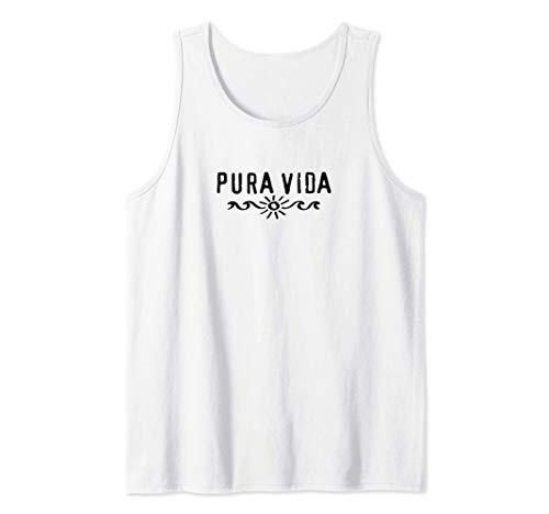 Pura Vida, Costa Rica, Welle, Sonne, Glück, Zufriedenheit Tank Top