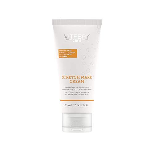 Vitabay Stretch Mark Cream 100 ml • Spezialpflege zur Vorbeugung und Milderung von Dehnungsstreifen