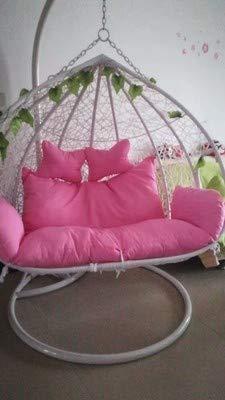 N /A coussin de chaise, coussin suspendu bleu oiseau nid coussin simple double berceau osier chaise hamac changement tissu couverture canapé suspension chaise berceau coussin, 6
