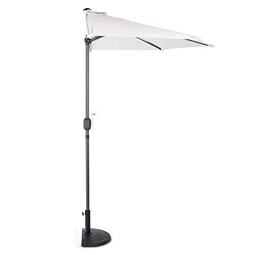 VonHaus Demi-Parasol 269 x 139cm UV50+ - Mobilier Plein Air idéal pour Balcon, Terrasse, Jardin - Pare-Soleil avec Protection