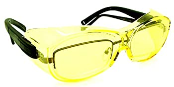 Shooter s Edge OTG Over-the-Glass Z87.1 Safety Shooting Glasses Contrast Yellow