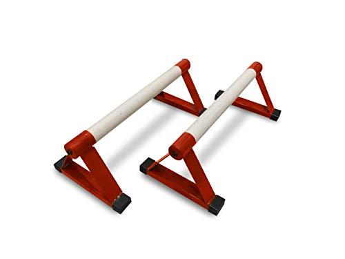 Parallettes de madera, barras paralelas de gimnasia, barras de flexión, calistenia para interiores y equipos de gimnasio