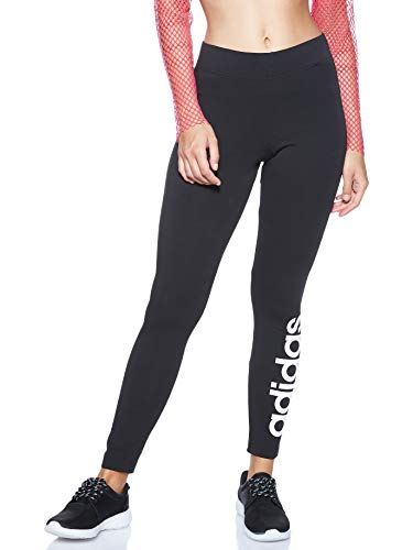 adidas Essentials Linear Tight, Tights Donna, Black/White, M 44-46