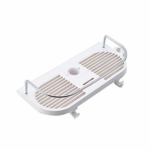 Douchebak magazijnstelling Douche Caddy Planken for Slide Bar Materiaal ABS kunststof for 0.94in-1.02in badkamer glijstang Boren doucheaccessoires