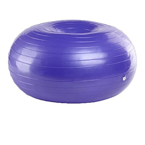 JSBAN Inflable Donut Yoga Bola Gimnasio Ejercicio Balance Fitness Ball Entrenamiento Entrenamiento Inicio Grueso Masaje Herramienta Deportes Equipos Deportivos (Color : Purple TTQ)